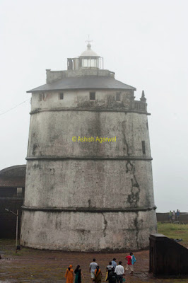 The older lighthouse inside the Aguada fort in Goa, a historic structure