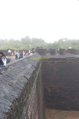 Perimeter wall of Aguada Fort in Goa along with moat