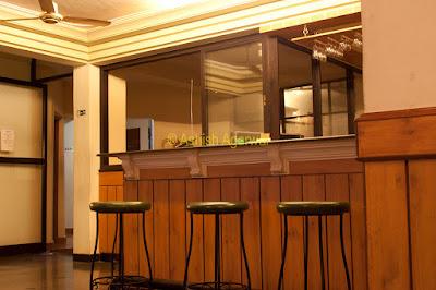 Bar stools inside the Palmarinha Resort in Goa