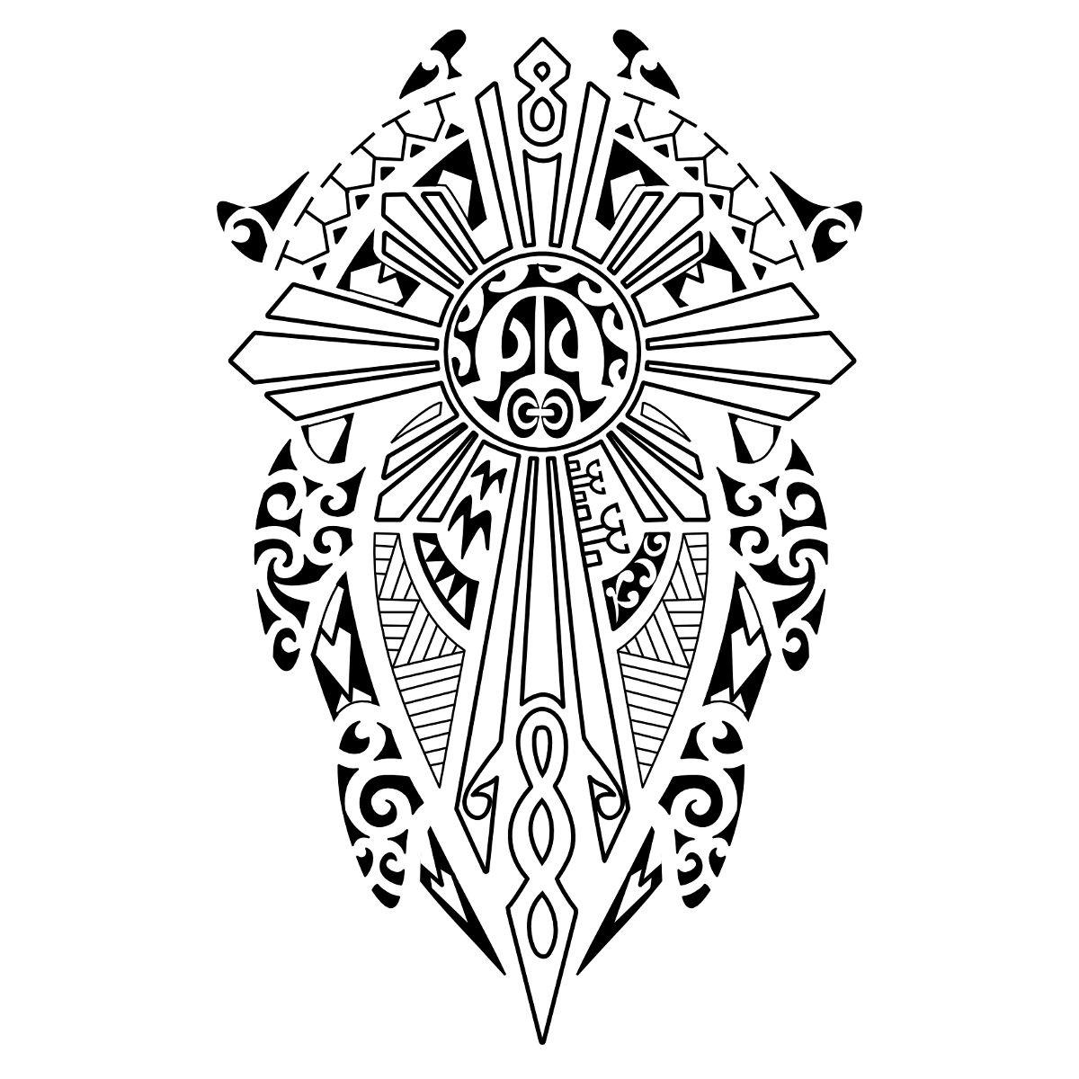 Filipino Sun Tattoo Designs