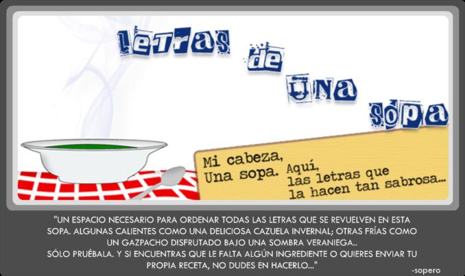 LETRAS DE UNA SOPA