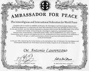 Paladino del messaggio universale di Pace