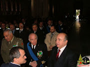 Il Comandante dei VV.Fuoco, ing. MICUNCO e le Autorità militari e religiose