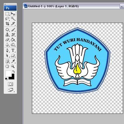 Duplikat Layer Logo Dengan Cara Klik Kanan Pilih