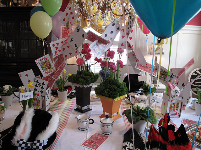 Frugality in the hudson valley january 14th alice in - Mad hatter tea party decoration ideas ...