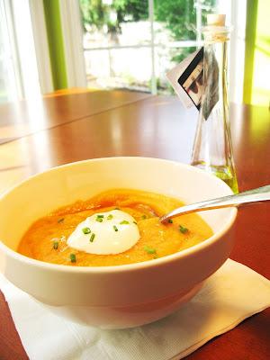 Orange vegetables soup