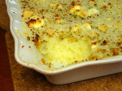 Mashed Potatoes with Cheesy Crunchy Topping