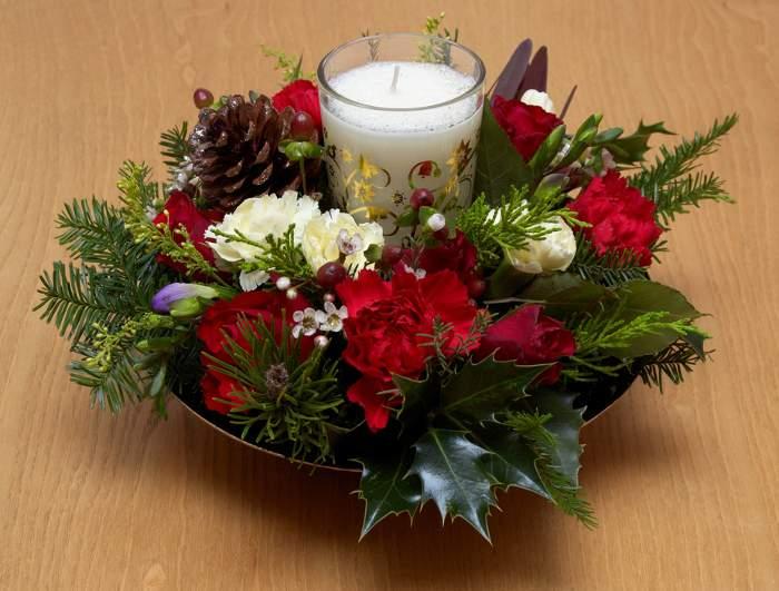 Az car canela y miel detallitos navide os para la mesa - Centros florales navidenos ...