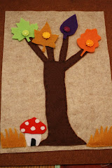 Fall Tree Buttons Board