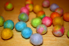 Colorful Wet Felted Balls