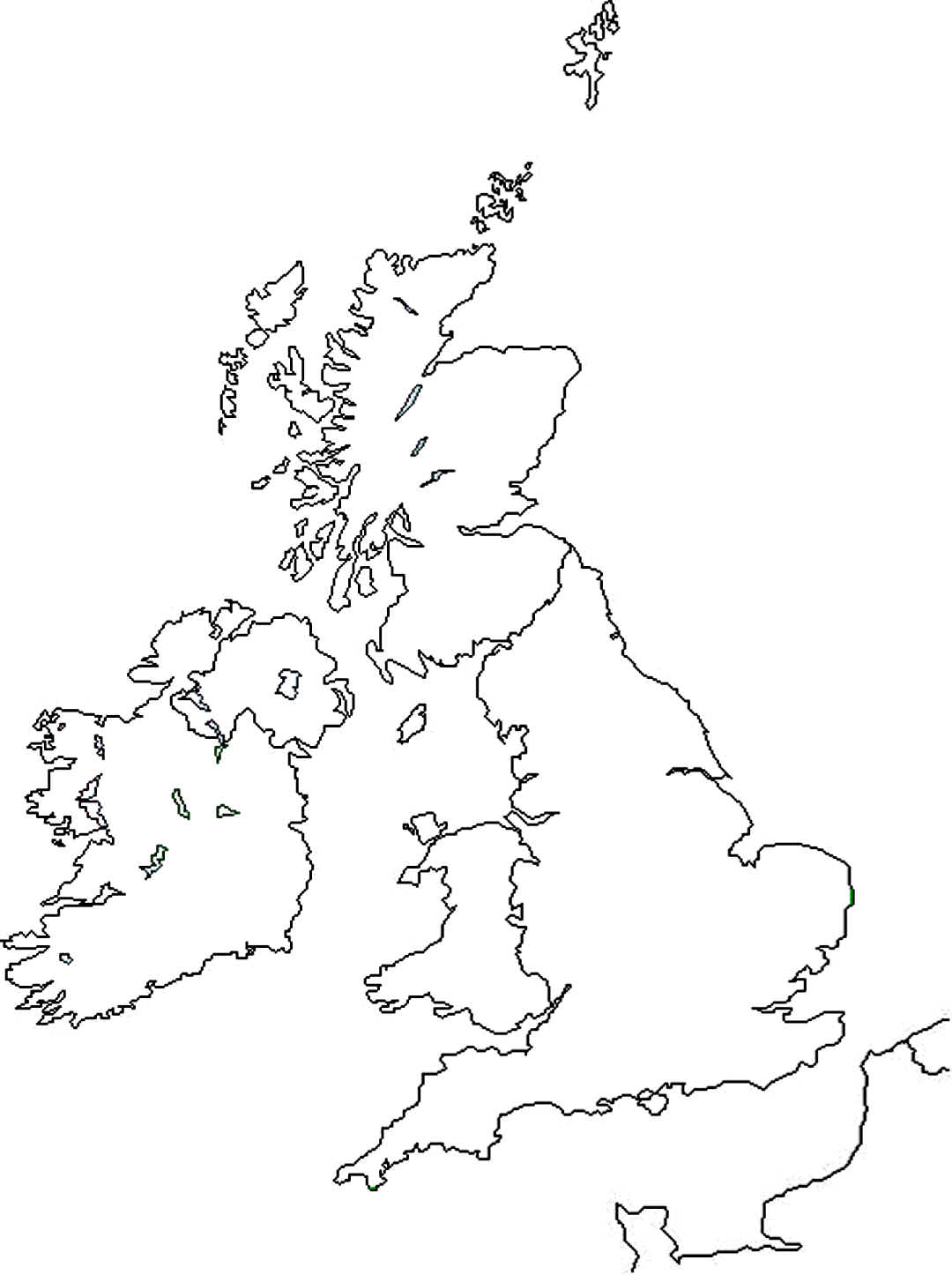 United Kingdom Counties Outline Map