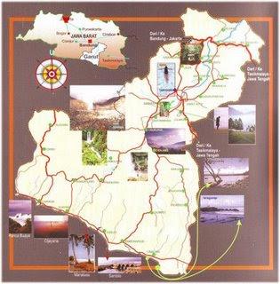 Peta wisata Garut