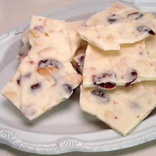 White Chocolate Cranberry Almond Bark