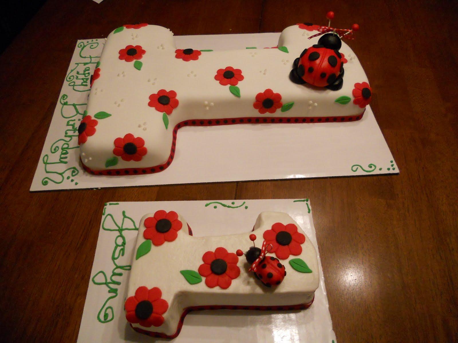 Treat Dreams First Birthday Ladybug Cake