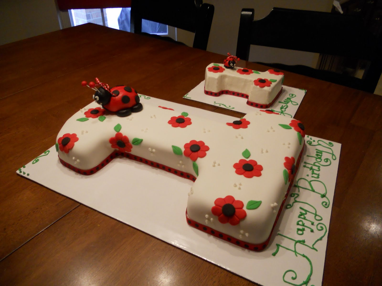 Treat Dreams First Birthday Ladybug Cake