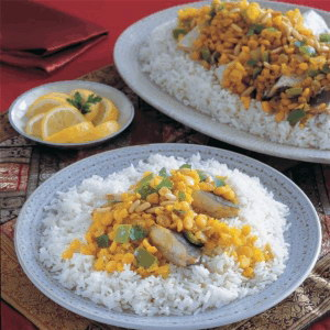 Fish with chickpeas and white rice recipe for Rice recipes to go with fish