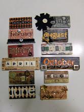 Months for Junque Calendar