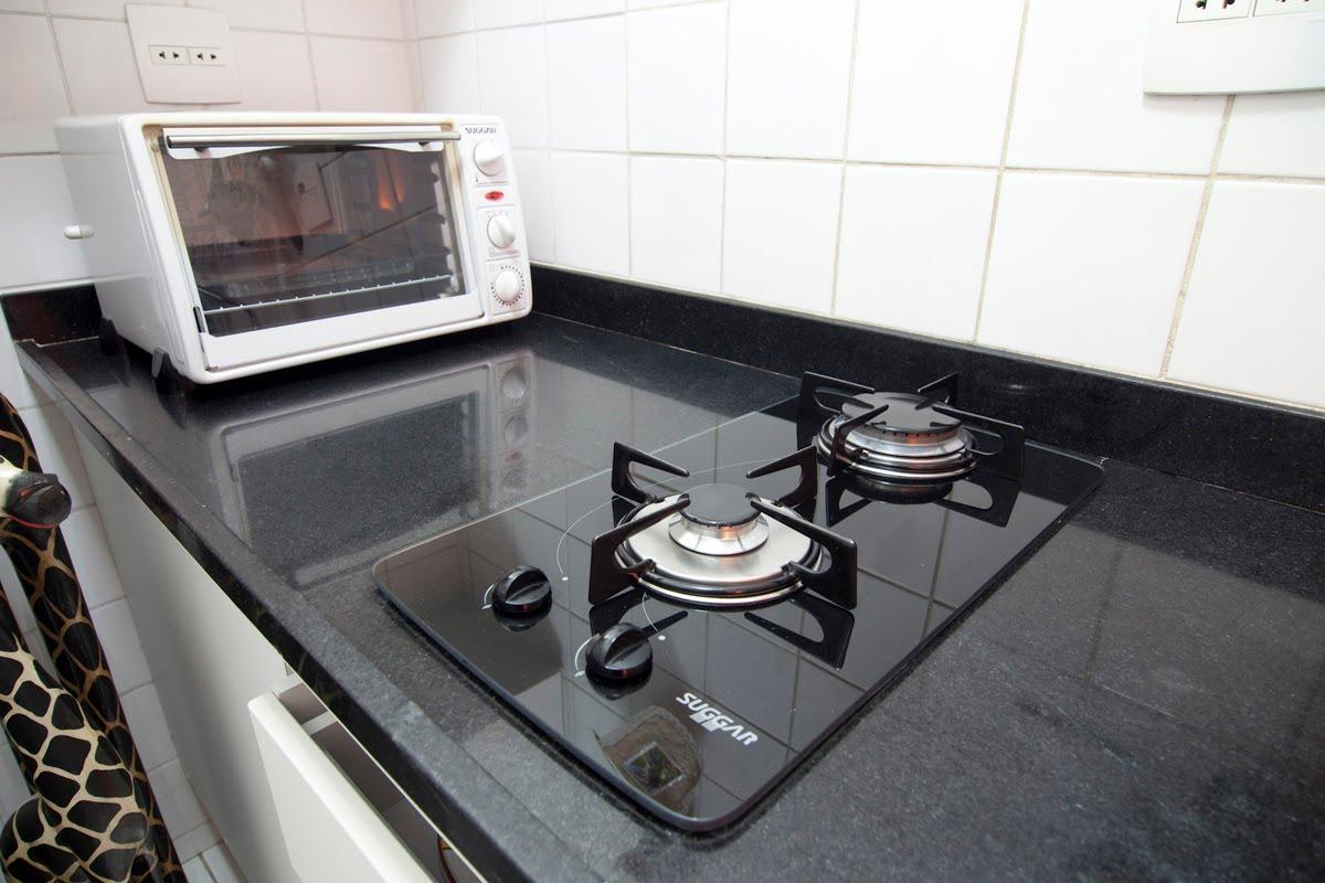 vidro temperado forno elétrico e bancada em granito preto absoluto #776354 1200x800