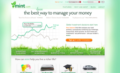Mint.com Screenshot