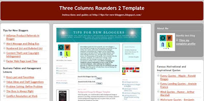 Three Columns Rounders 2 Template