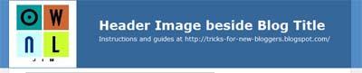Header Image beside Blog Title
