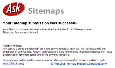 Submit Blogger Sitemap to MSN and Ask.com