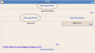 Add Page Element to Blogger Header and Blog Posts
