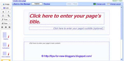 Using Google Page Creator and Google Groups