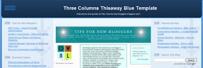 Three Columns Thisaway Template (I)