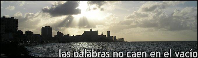 LAS PALABRAS NO CAEN EN EL VACIO