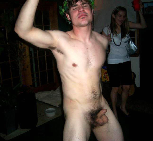 Naked Frat Boy At The Party