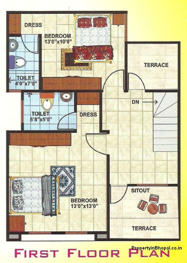 Bungalow plans india joy studio design gallery best design for Plan of bungalow in india