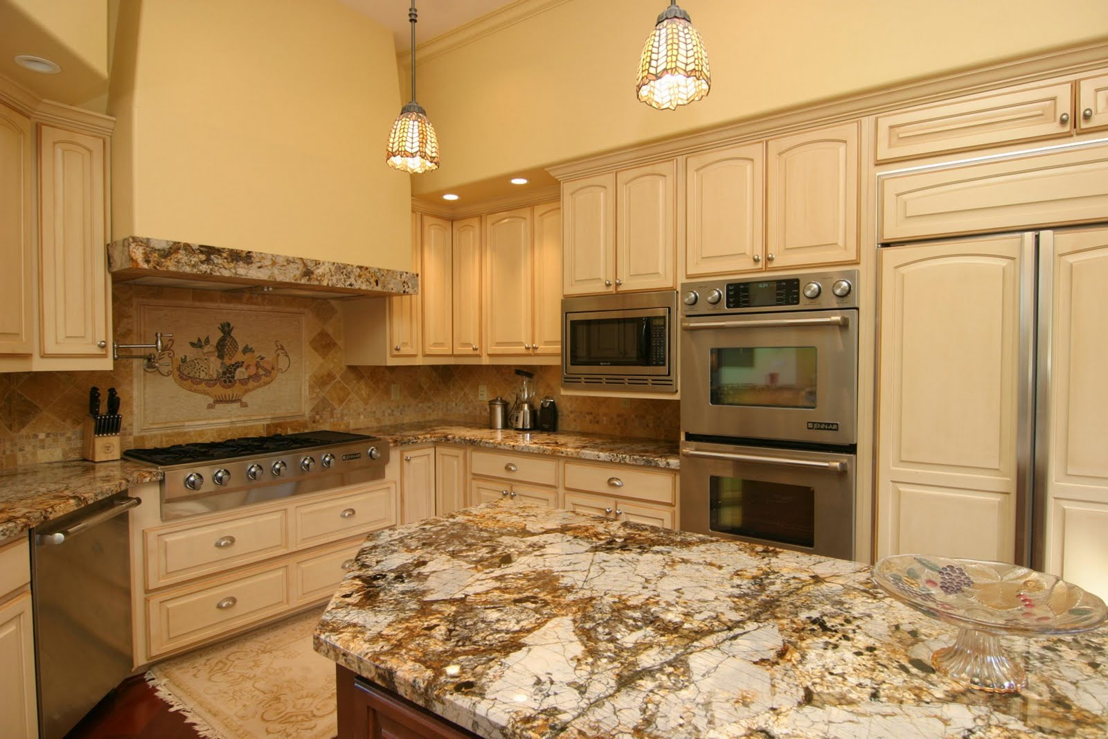 Kitchen Island Cabinets with Granite Tops