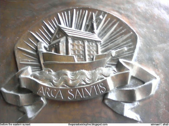 Arca Salviis on Manila Cathedral door
