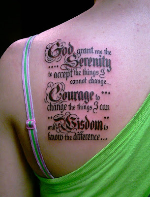 serenity prayer tattoo. serenity tattoo.