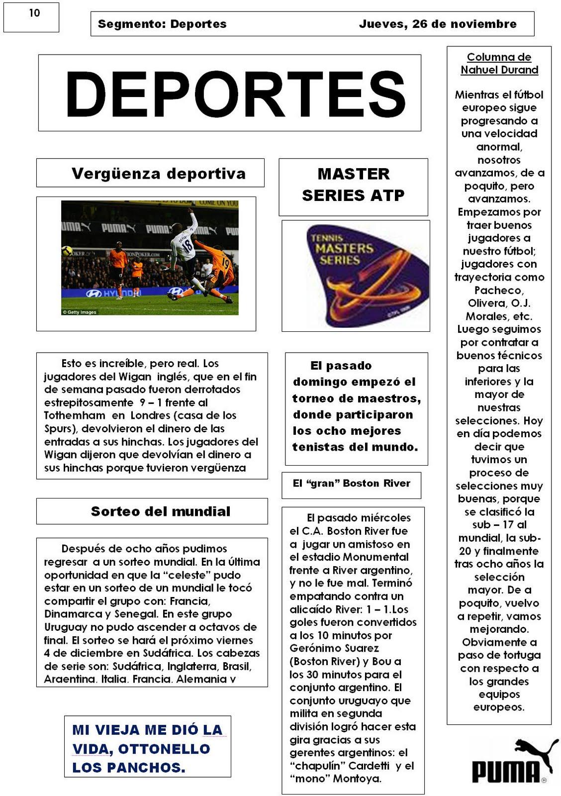 diario mural 2 deportes maturana 2do 1 lvarez