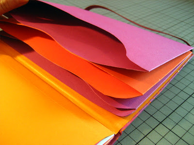 Accordion file folders travel journal