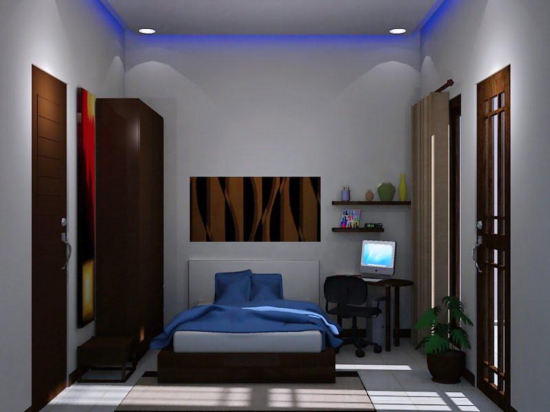 desain interior kamar tidur bergaya simpel rancangan