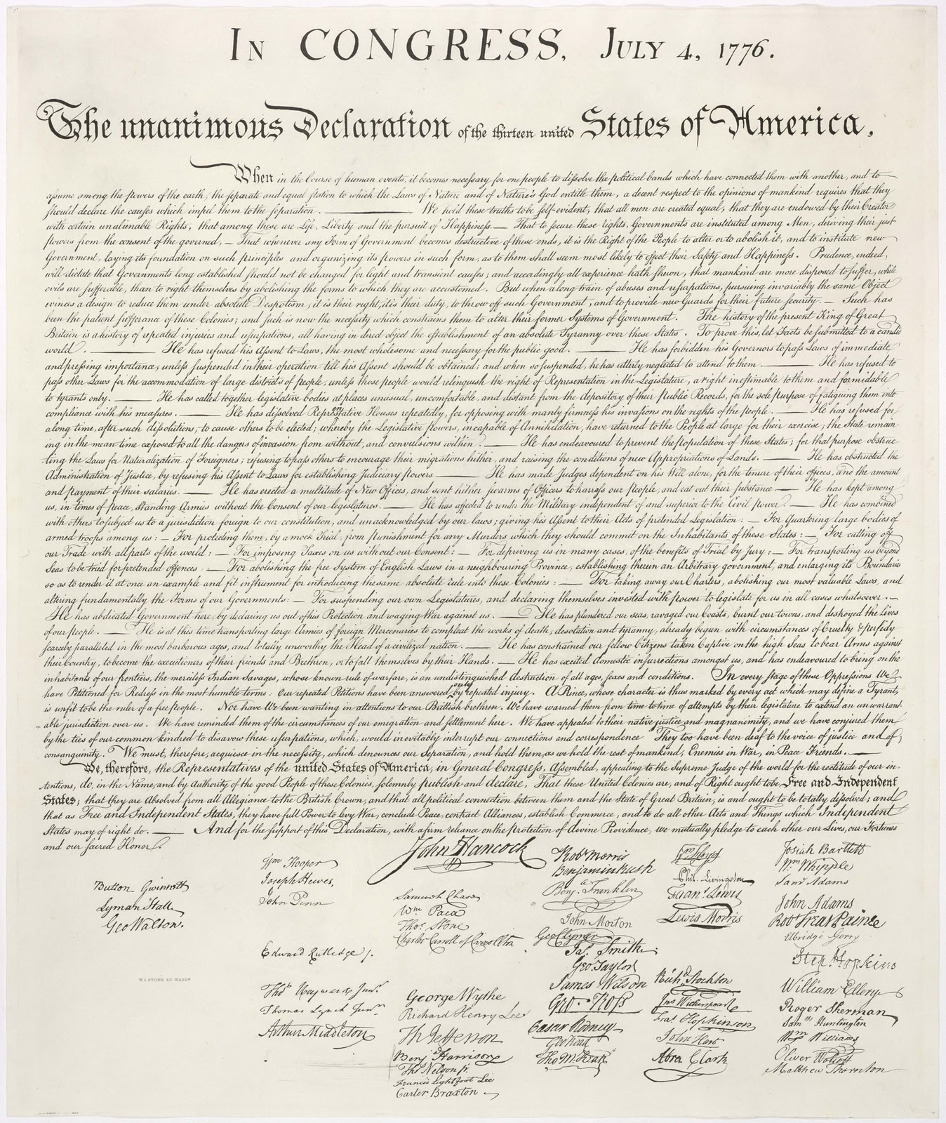 the declaration of independence cry for The declaration of independence is the historic document that the american colonies confirmed their freedom from the declaration was a desperate cry of freedom.