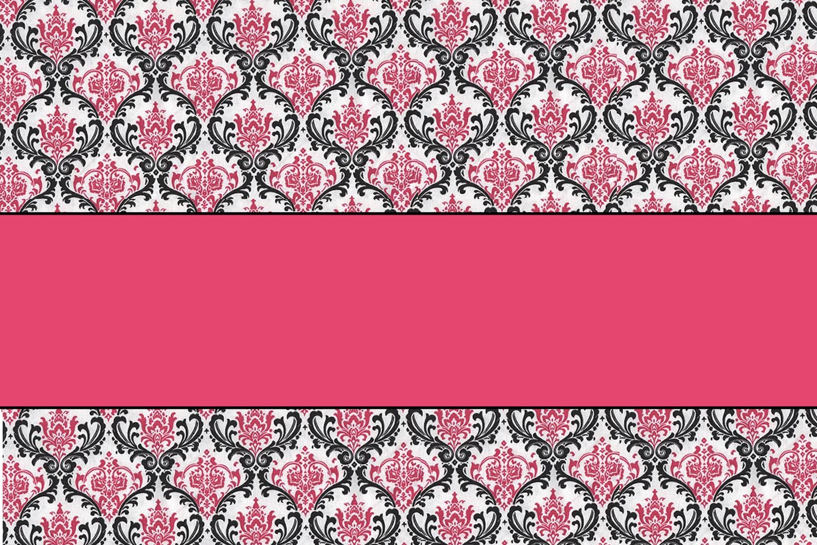 hunt 4 announcements and invites pink amp black damask