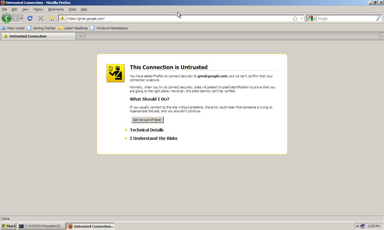 Random ramblings ssl mitm attack using ettercap firefox ssl certificate error xflitez Gallery