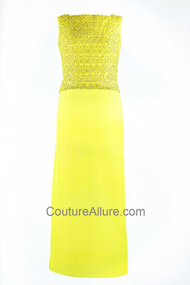 jacqueline kennedy, chartreuse evening gown