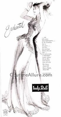 lady duff nightgown, 1948
