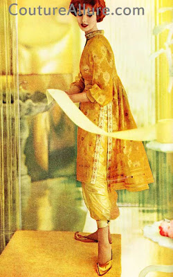 1959, tina leser, sari silk, hostess outfit