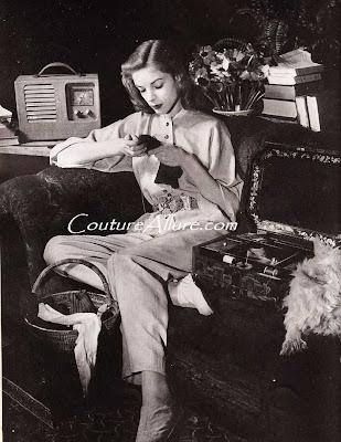 lauren bacall, 1943 bazaar, claire mccardell
