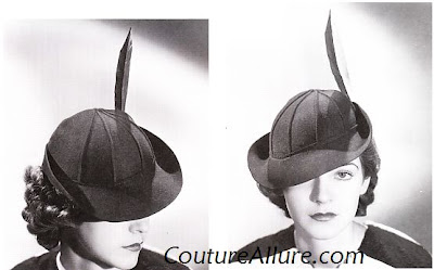 1930s Hats Women http://coutureallure.blogspot.com/2009/10/vintage-hats-from-1930s.html
