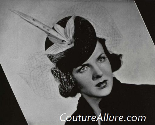 Couture Allure Vintage Fashion  Parisian Hats During the War Years cbf2d90bc86