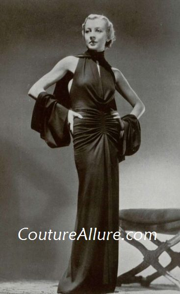Couture Allure Vintage Fashion: Evening Dresses - 1935