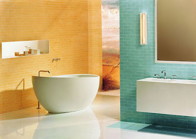 Contemporary-design-bathroom-with-combination-of-blue-and-yellow