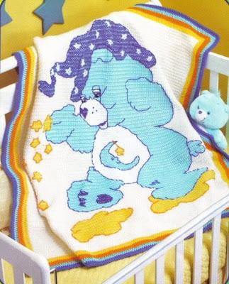 Tunus işi bebek battaniyeleri